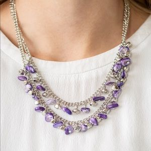 Paparazzi Pebble Pioneer Purple Necklace